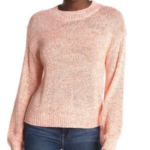 Abound Crew Neck Sweater Long Balloon Sleeves NWT